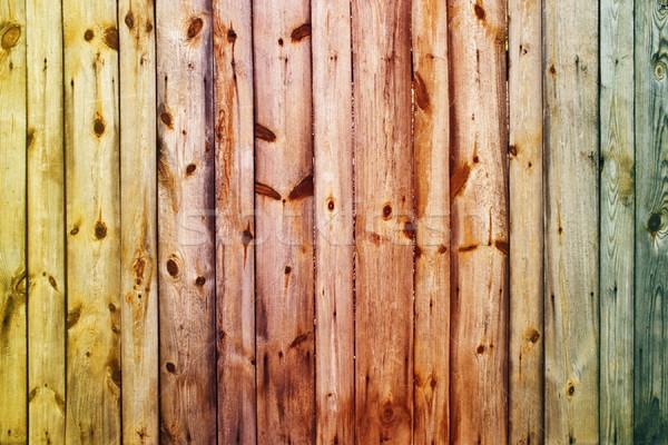 Fából készült klasszikus rozsdás színes építkezés fal Stock fotó © vkraskouski