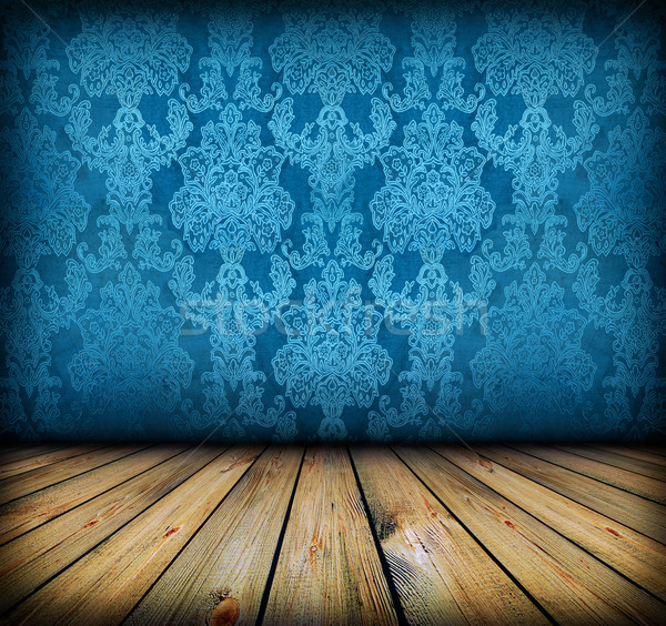Karanlık bağbozumu mavi oda artistik Stok fotoğraf © vkraskouski