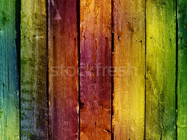 Vintage стены ярко красочный здании Сток-фото © vkraskouski