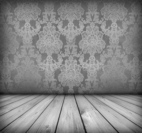 Escuro vintage quarto preto e branco artístico Foto stock © vkraskouski