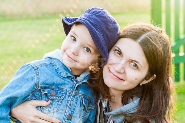 Retrato mãe filho mulher jovem menino família Foto stock © vkraskouski