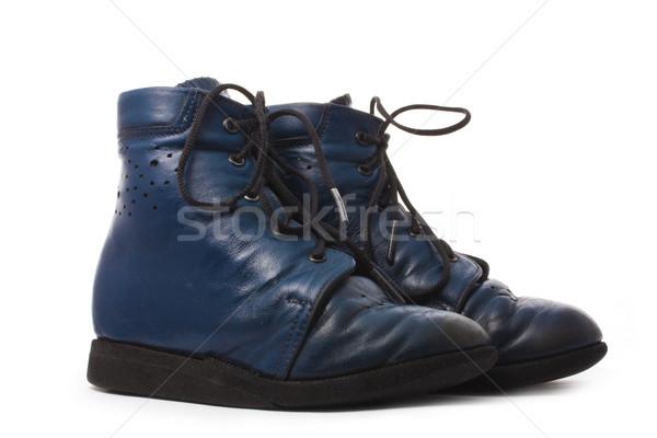 Yalıtılmış beyaz siyah cilt ayak ayakkabı Stok fotoğraf © vkraskouski
