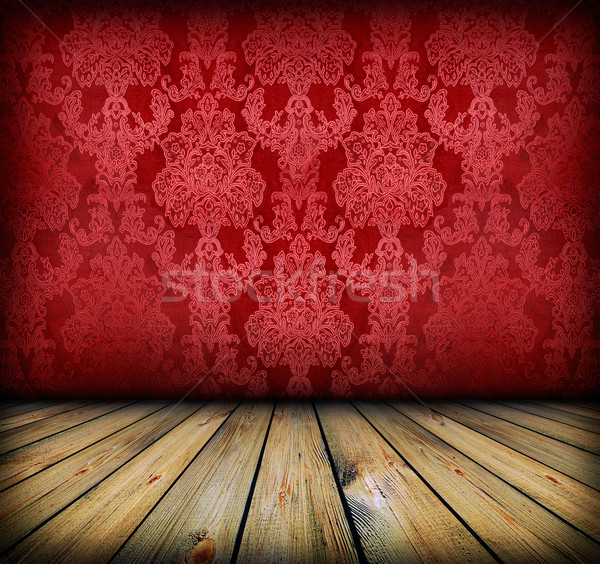 dark vintage red room Stock photo © vkraskouski