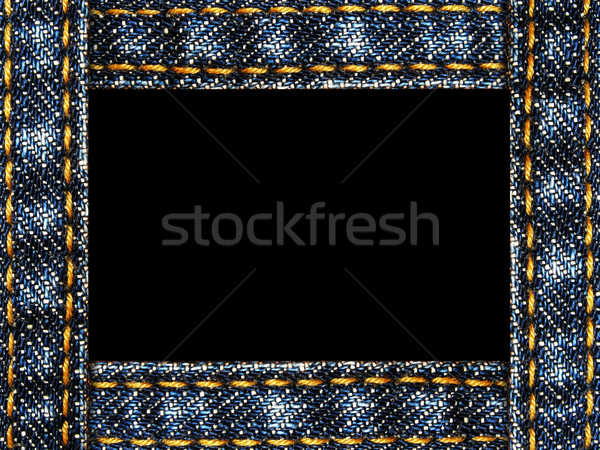 jeans frame isolated on white Stock photo © vkraskouski