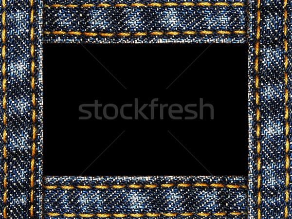Farmer keret izolált fehér absztrakt kék Stock fotó © vkraskouski