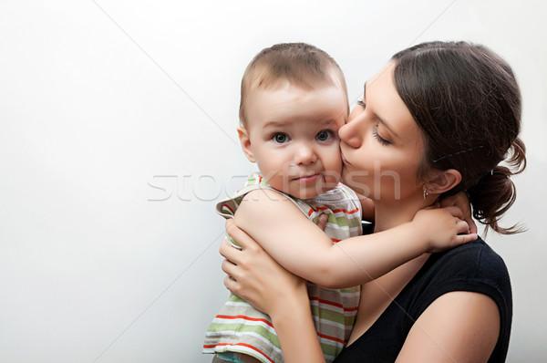 Portre anne bebek mutlu genç Stok fotoğraf © vkraskouski