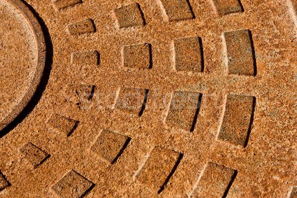 Rusty industrial textura pared industria placa Foto stock © vkraskouski