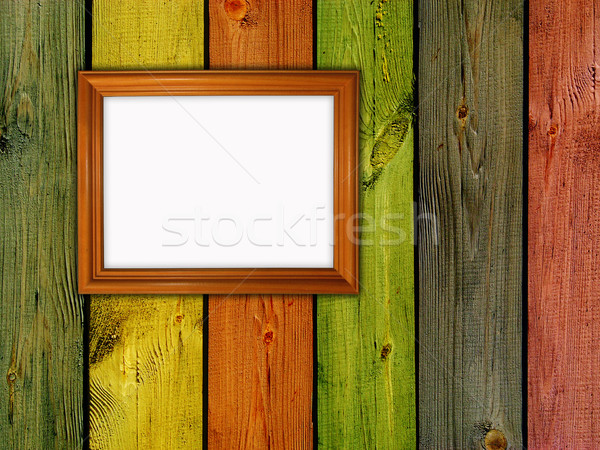 Ahşap çerçeve duvar ev arka plan çerçeve uzay Stok fotoğraf © vkraskouski