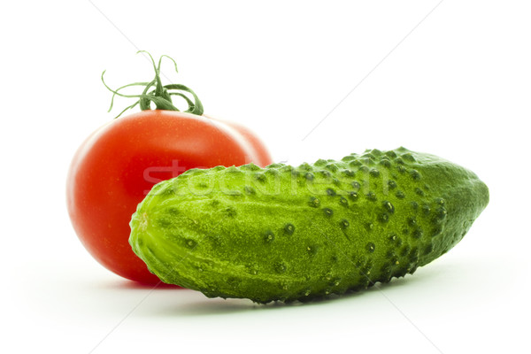 cucumber and tomato Stock photo © vkraskouski