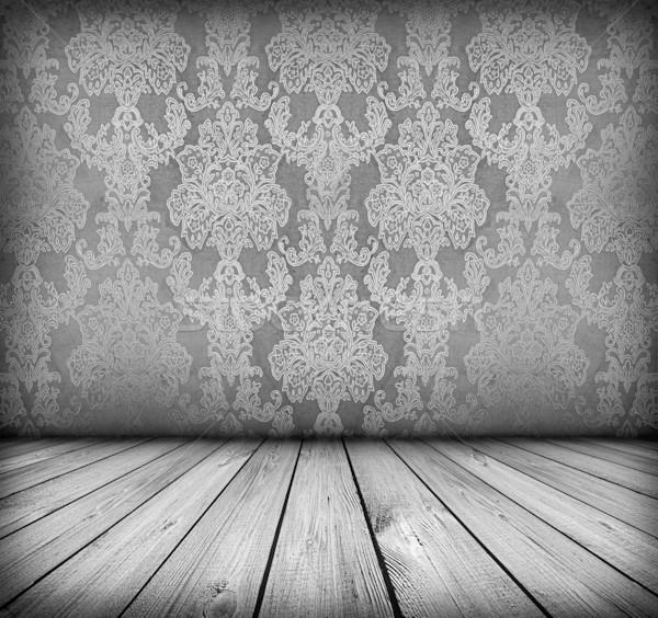 Sötét klasszikus szoba fapadló művészi árnyékok Stock fotó © vkraskouski
