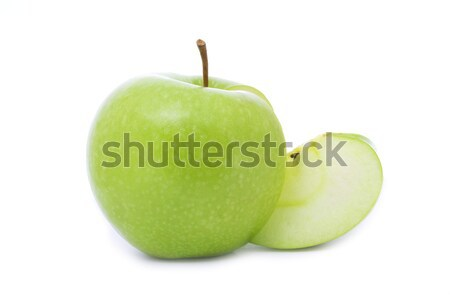 Verde maçã fresco suculento isolado branco Foto stock © vkraskouski