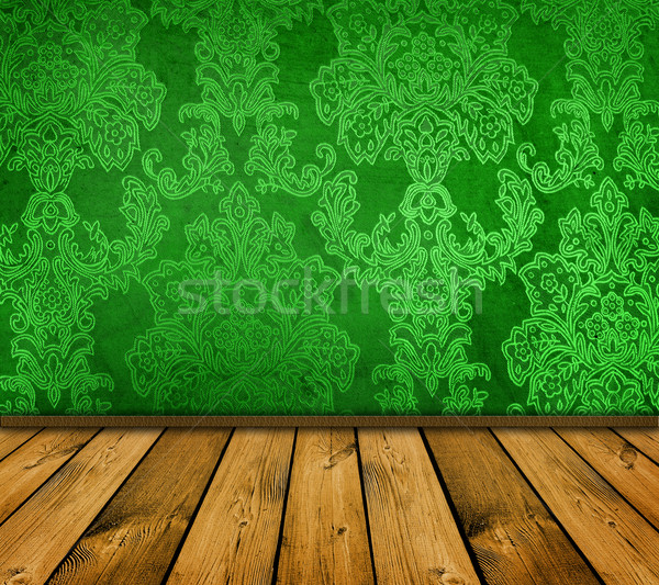 Ostry zielone vintage domu ściany projektu Zdjęcia stock © vkraskouski