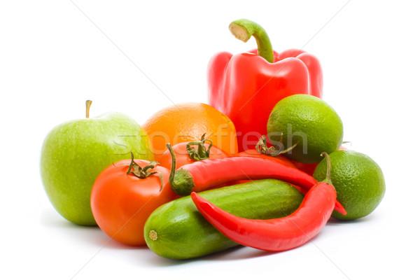 плодов овощей изолированный белый свет яблоко Сток-фото © vkraskouski