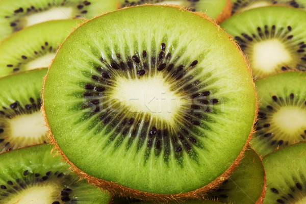 Kreatív kiwi textúra étel zöld gyümölcsök Stock fotó © vkraskouski