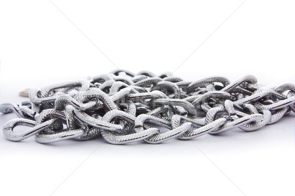 серебро цепь изолированный белый аннотация Сток-фото © vkraskouski