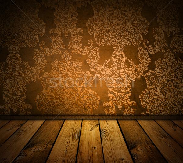 Barna klasszikus belső sötét éles ház Stock fotó © vkraskouski