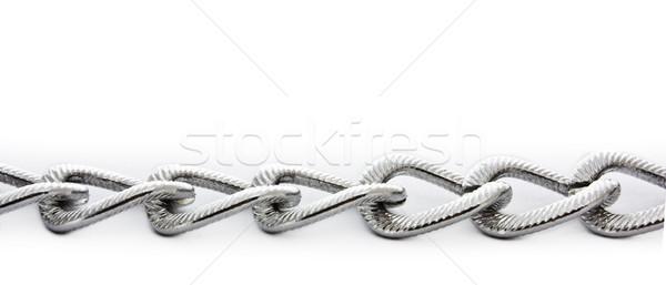 Gümüş zincir yalıtılmış beyaz soyut güvenlik Stok fotoğraf © vkraskouski