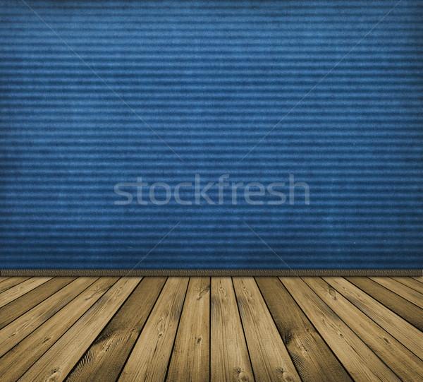 Stock photo: blue interior