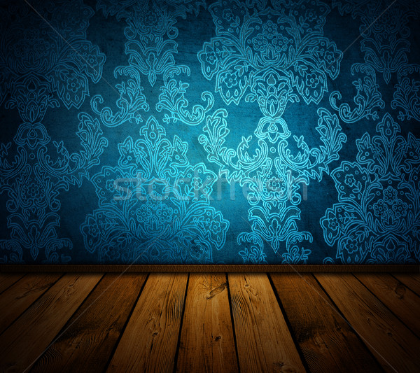 Stock photo: sharp blue vintage interior - similar images available