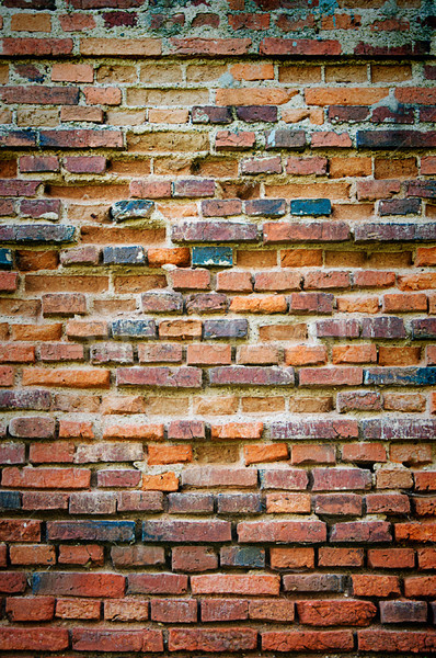 vintage grungy red brick wall Stock photo © vkraskouski