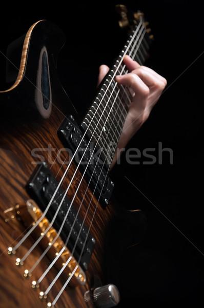 Jogar vintage marrom guitarra tiro Foto stock © vkraskouski