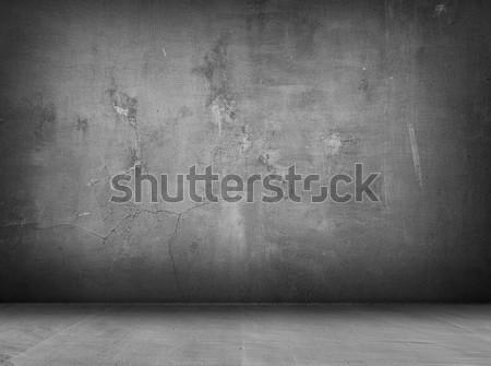 Beton szürke belső fal padló árnyékok Stock fotó © vkraskouski