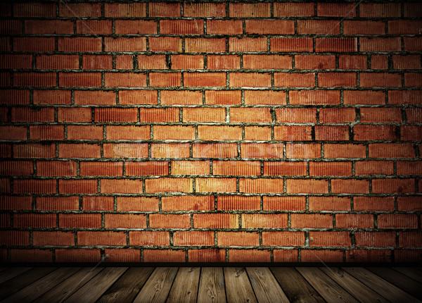 Vintage parede de tijolos cidade parede projeto fundo Foto stock © vkraskouski