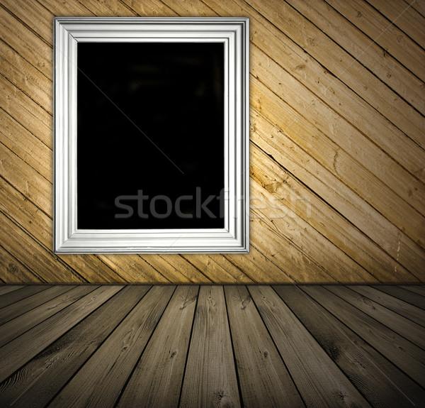 Vintage интерьер темно доски комнату Сток-фото © vkraskouski
