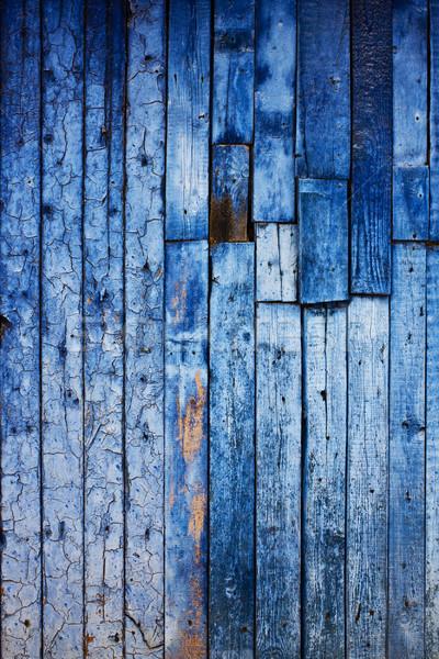 Klasszikus kék fából készült textúra fa fal Stock fotó © vkraskouski