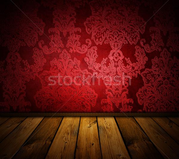 éles piros klasszikus belső hasonló képek Stock fotó © vkraskouski