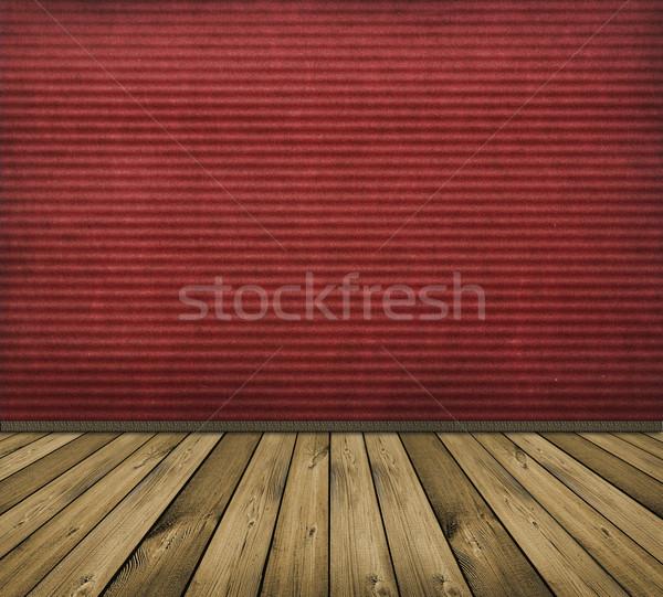Kırmızı iç bağbozumu ev arka plan Stok fotoğraf © vkraskouski