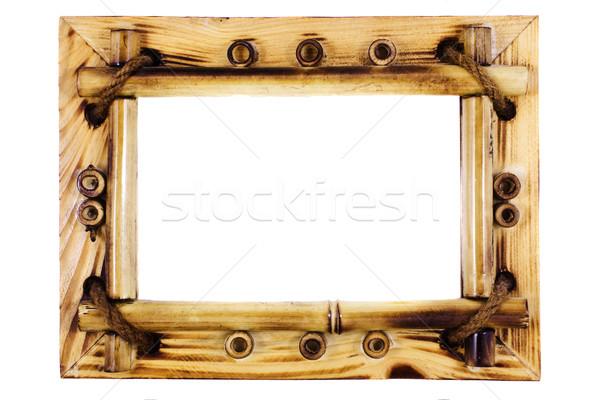 beatiful vintage bamboo frame Stock photo © vkraskouski