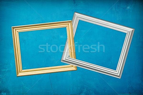 blu background with two frames Stock photo © vkraskouski