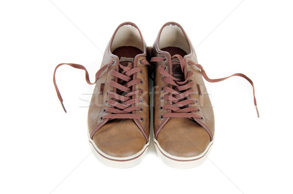 brown leather sneakers isolated Stock photo © vkraskouski