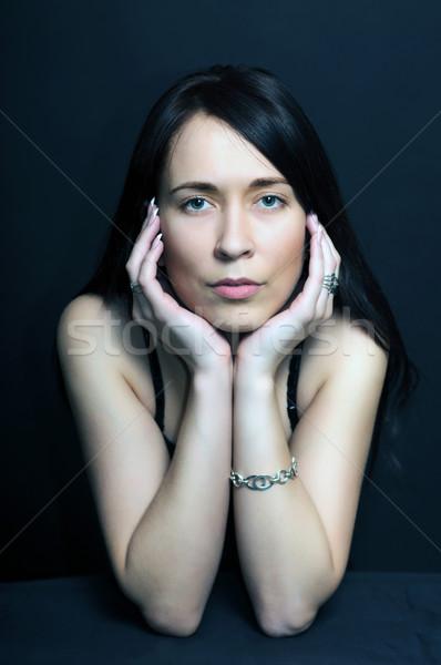 Retrato morena mulher preto jovem Foto stock © vkraskouski