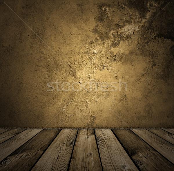 Kahverengi bağbozumu iç karanlık ahşap ev Stok fotoğraf © vkraskouski