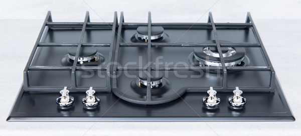 New and modern shining metal gas cooker Stock photo © vlaru