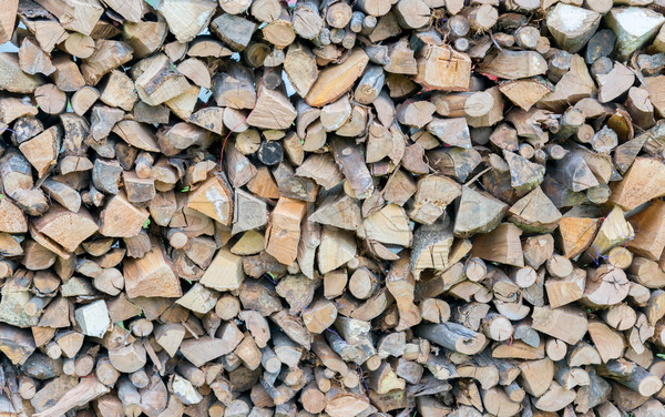 dry chopped firewood logs in a pile Stock photo © vlaru