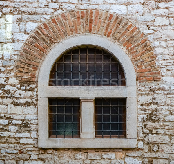 old window with metal bars  Stock photo © vlaru