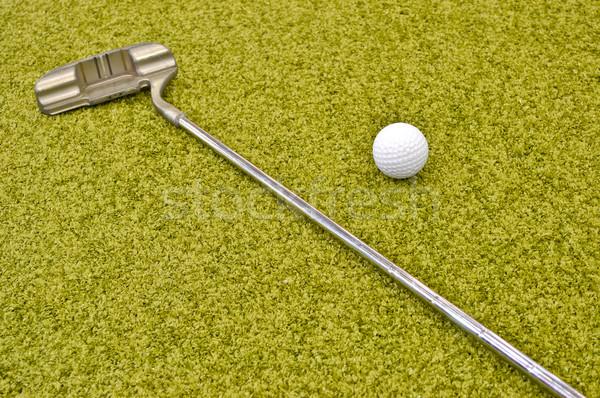 Mini golf interni famiglia ragazza Foto d'archivio © vlaru