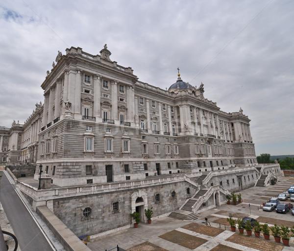 The Royal Palace. Palacio de Oriente, Madrid landmark Stock photo © vlaru