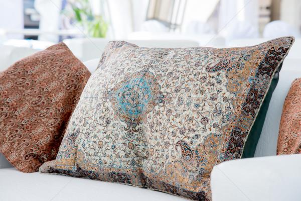 pillows with a Arabic pattern Stock photo © vlaru