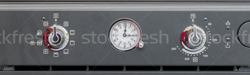 Vintage panel de control moderna cocina tecnología metal Foto stock © vlaru