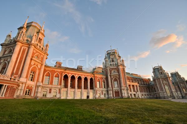 дворец Москва Россия дома трава двери Сток-фото © vlaru