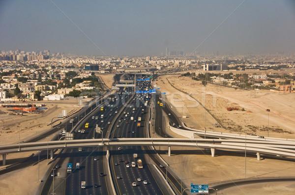 Strada Dubai costruzione costruzione blu Foto d'archivio © vlaru