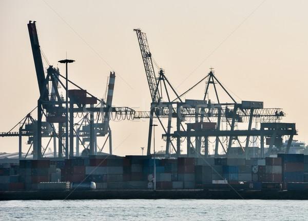 the Rotterdam sea cargo port  Stock photo © vlaru