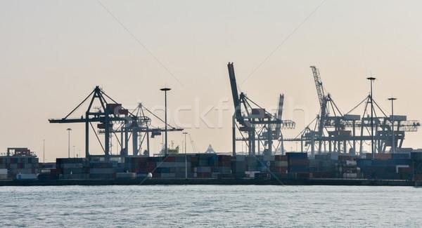 Rotterdam deniz kargo liman ufuk çizgisi su Stok fotoğraf © vlaru
