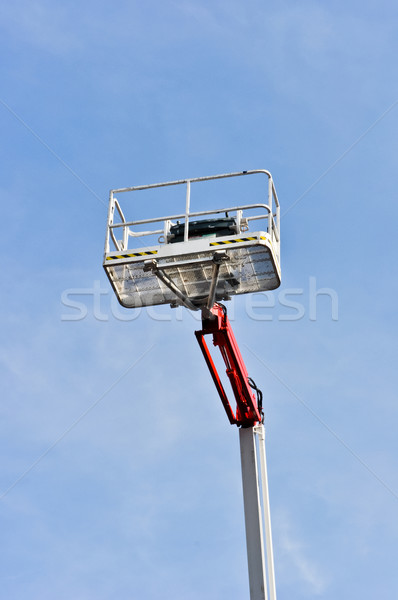 white hydraulic construction cradle against the blue sky Stock photo © vlaru