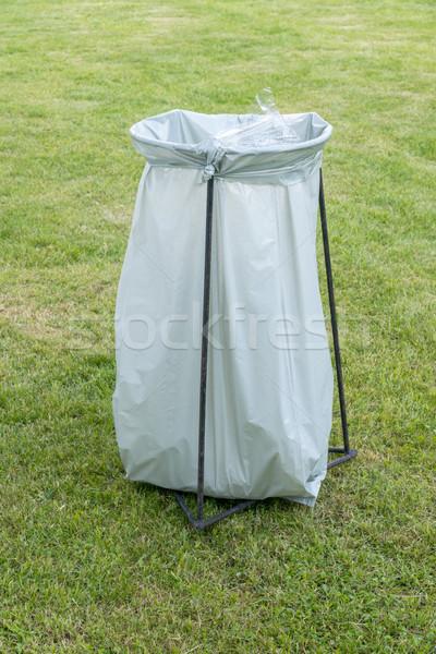 trashcan - a plastic garbage bag on an iron frame Stock photo © vlaru