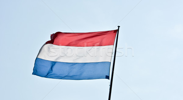 флагами Голландии Blue Sky знак ветер Сток-фото © vlaru
